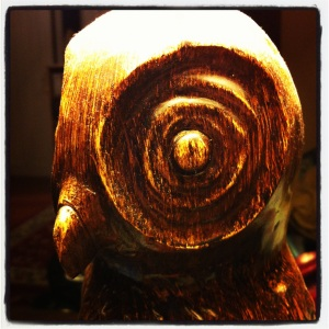 Cheap wooden owl lamp