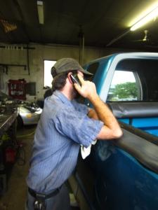 Mechanic hard at work