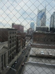view from Hotel Indigo Nashville