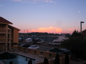 Sunset over La Quinta West Knoxville