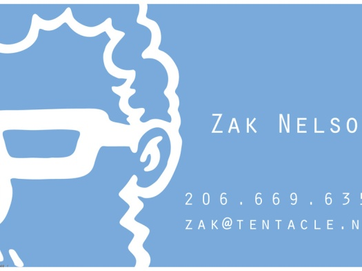 Business card, side 1